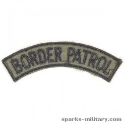 Border Patrol Tab Uniform 2nd ACR Armored Cavalry Regiment in green
