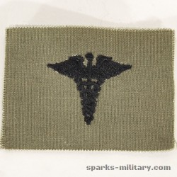 US Army BOS Medical Collar Badge Embroidered in Subdued