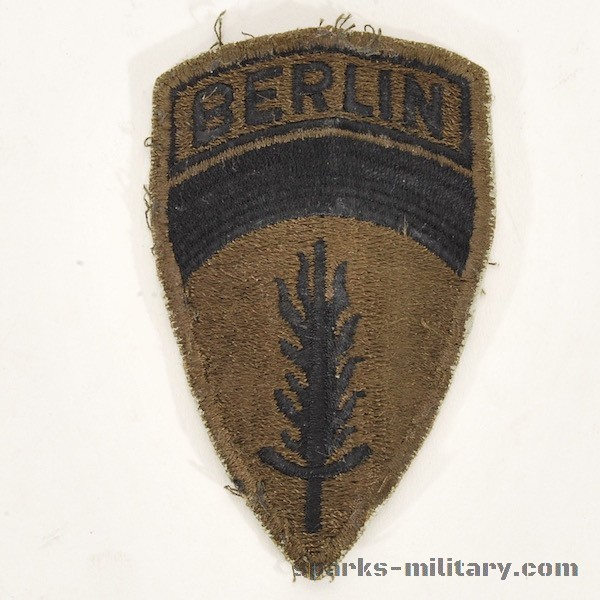 US Army Berlin Unit Patch Subdued Patch, Cut edge, old German Made