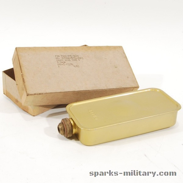 US Army Oiler Hand Oilcan Messing