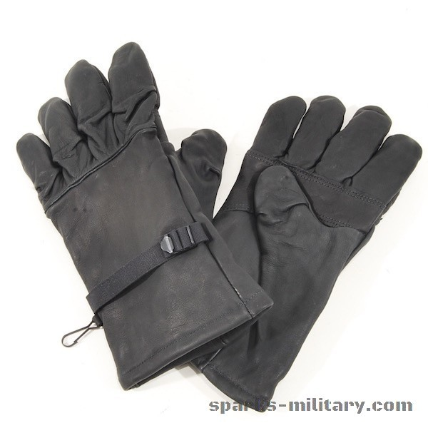 US Military black Leather Intermediate Cold/Wet Weather Gloves