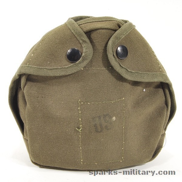 US Military Steel Water Canteen Arctic Cover/Carrier