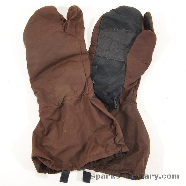 US Military ECWCS Cold Weather Trigger Finger Over Gloves brown