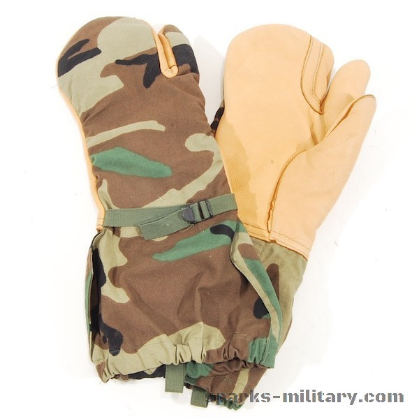 US Military M-1965 Cold Weather Triger Finger Überziehandschuhe Woodland