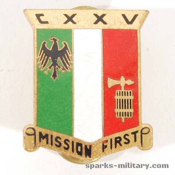 125th Transportation Battalion DI/DUI Unit Crest, german Made