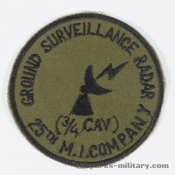 25th M.I. 3/4 Cav. Ground Survieilance Radar Pocket Patch