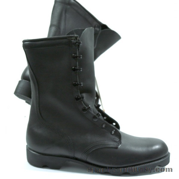 Us Army Leather Boots In Black Sparks Military