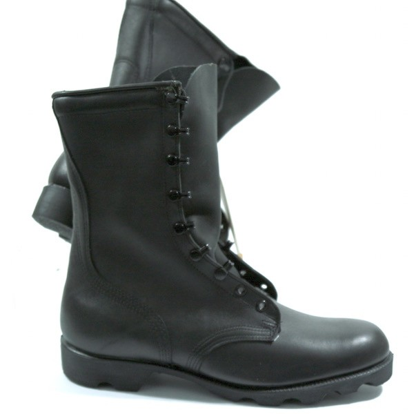 US Army Leather Boots in black - Sparks