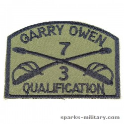 3rd Inf. 7th Cav. Qualification Pocket Patch
