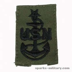 US Navy Senior Chief Petty Officer Collar Cloth. Rank Insignia