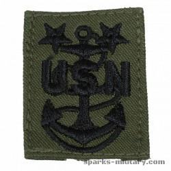 US Navy Master Chief Petty Officer Collar Cloth. Rank Insignia