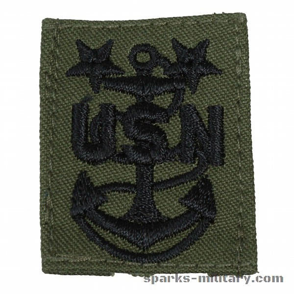 Us Navy Master Chief Petty Officer Collar Cloth Rank Insignia