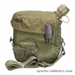 US Military 2 Quart Collapsible Canteen with Cover