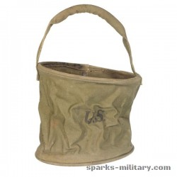 US Army Falt-Eimer Bucket, Watering, Canvas WWII 1944