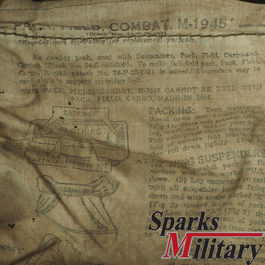 WWII M-1945 FIELD PACK buy at Sparks Military