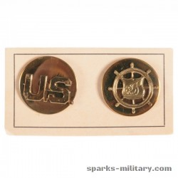 US Army BOS Transportation Corps Collar Disc Gold