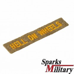 2nd Armored Division Tab Hell on Wheels Patch