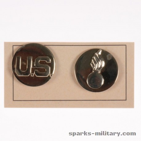 US Army BOS Ordnance Corps Collar Disc Silber