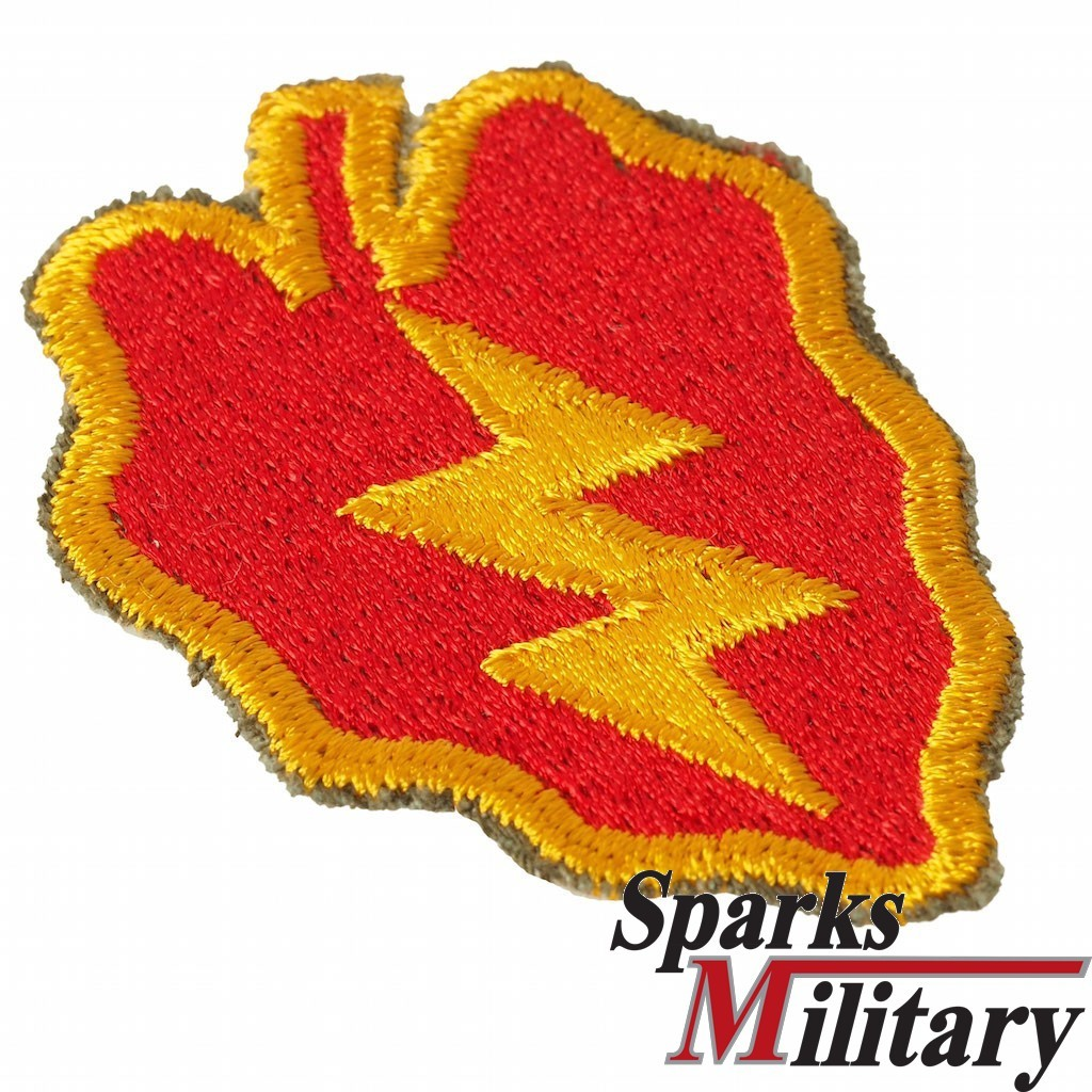 25th Infantry Division cut edge Patch in Color