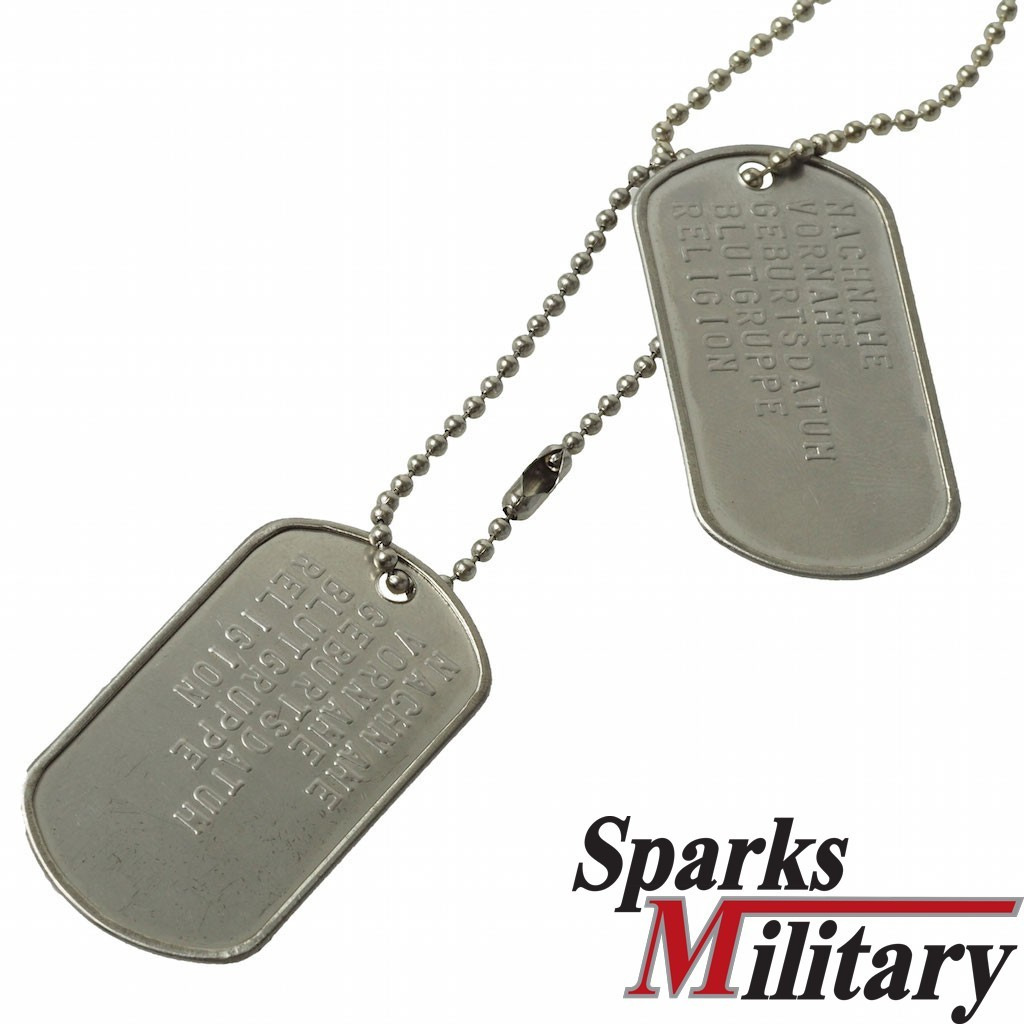 US Military Identification tags lettered for € 7 90 buy online