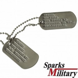 Vietnam Era Dogtag or Identification Tag of the US Military