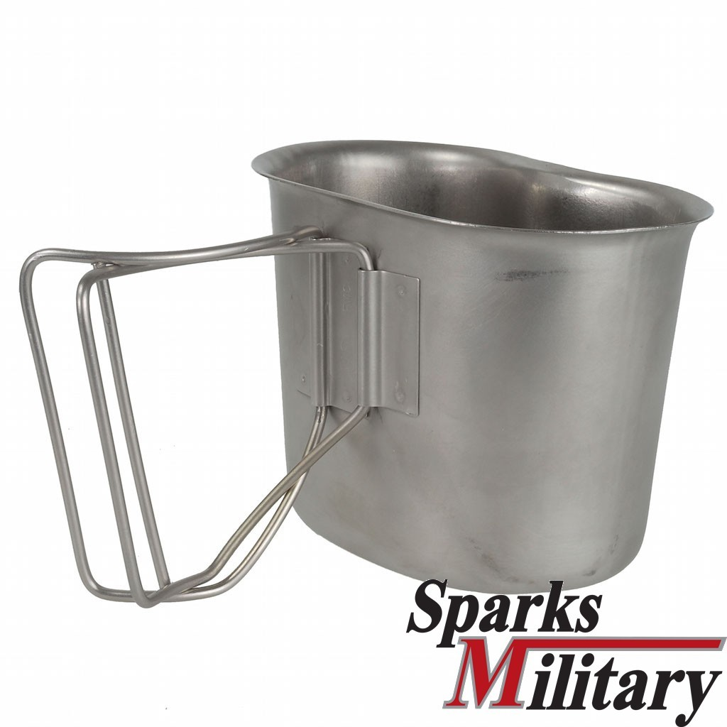 original US Military Canteen Cup stainless steel
