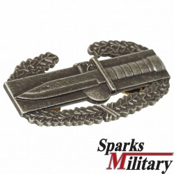 Combat Action Badge Silver oxidized Pin back