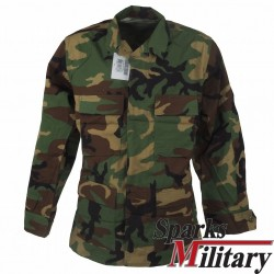 US Military Coat or shirt for Hot Weather in Woodland Camouflage