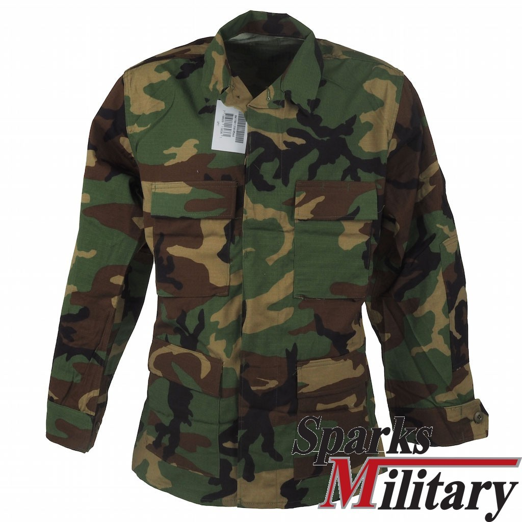 c14a66fea92ff Original US Military BDU RIPSTOP Combat Shirt in Woodland buy online