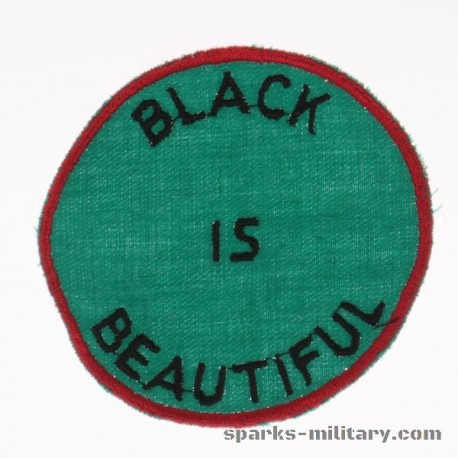Vintage Black is Beautiful Patch. 70s Black Power Sew Black Panthers. Sixties.