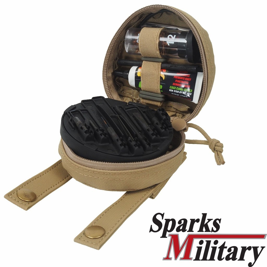 OTIS US Military M16 Weapon Cleaning Kit 5,56mm Cal .223 MFG-223-2 with Molle Pouch in Tan Sand color