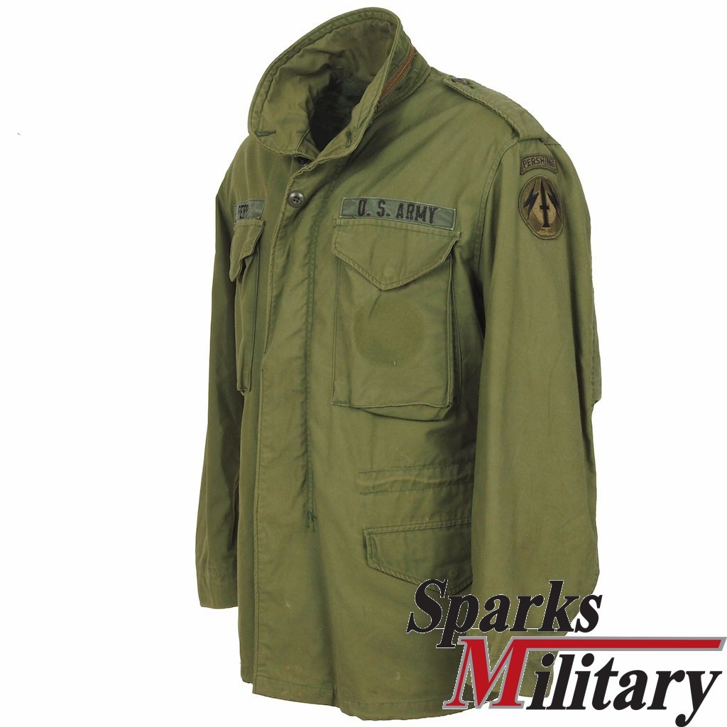 M65 Field Jacket OG-107 Pershing Missile Unit Patches buy at sparks 395d6e485