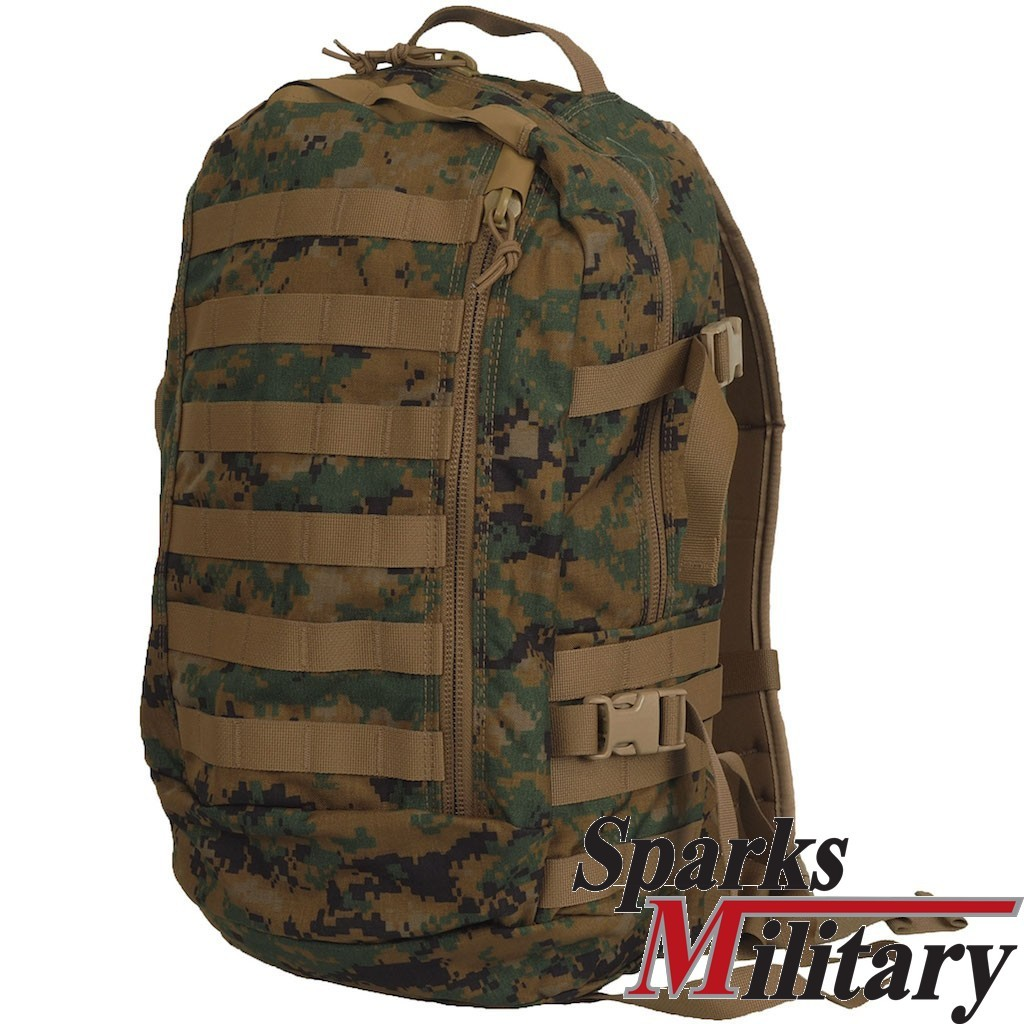 original USMC ILBE Assault Pack 25l Rucksack in digitalem Marpat woodland