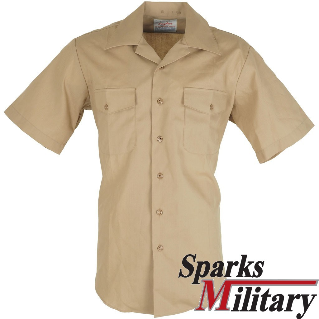 Us Navy Khaki Uniform Short Sleeve Shirt Buy Online At