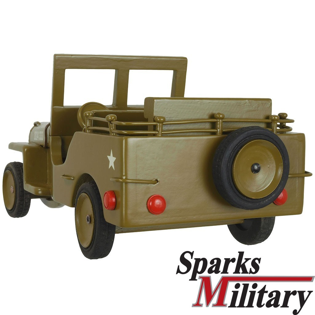 Us Military Willys Jeep Model Wood Made From Hugo Koch Buy
