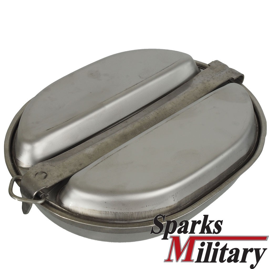 Mess Kit Of The Us Troops Made Of Stainless Steel Official