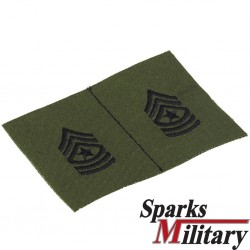 Sergeant Major OD Collar Rank sew on
