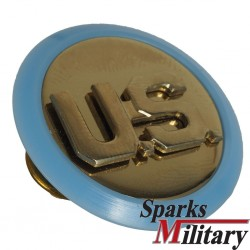 US Army Infantry Collar Disc Plastic Plate in blue