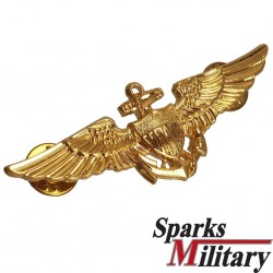US Navy and USMC Naval Aviator Metal Badge in Gold