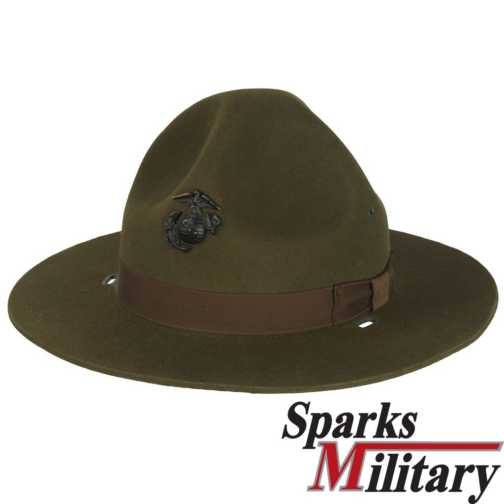 4f21b717676 USMC Campaign Hat for Drill Instructor and officers