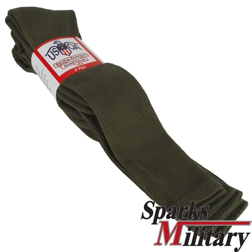 Anti Microbial Boot Sock OD Green