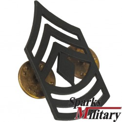 First Sergeant collar pin on metal Rank insignia in black