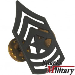 Sergeant Major black Metal Collar pin