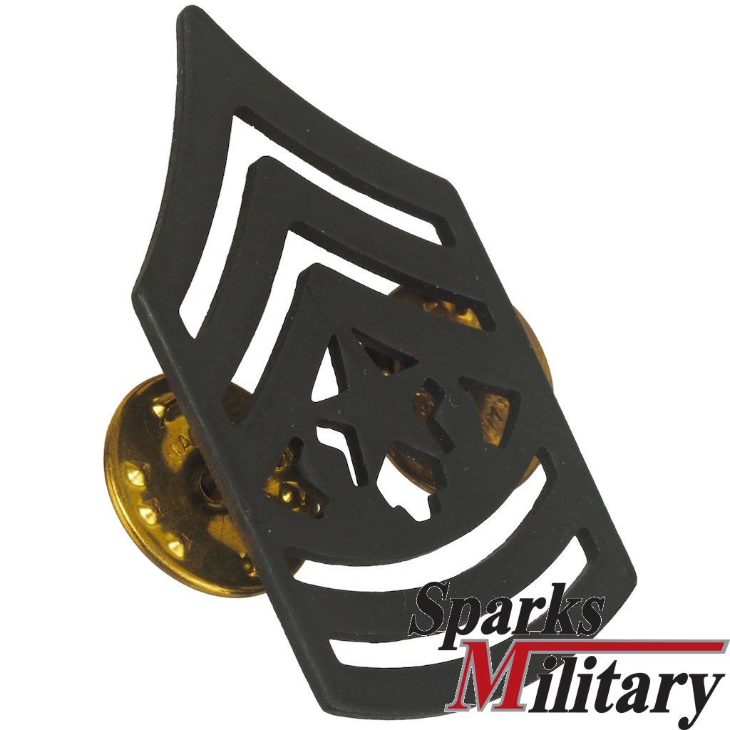 Command Sergeant Major black collar Metal pin
