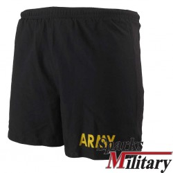 APFU Fitness Shortsin black with yellow print