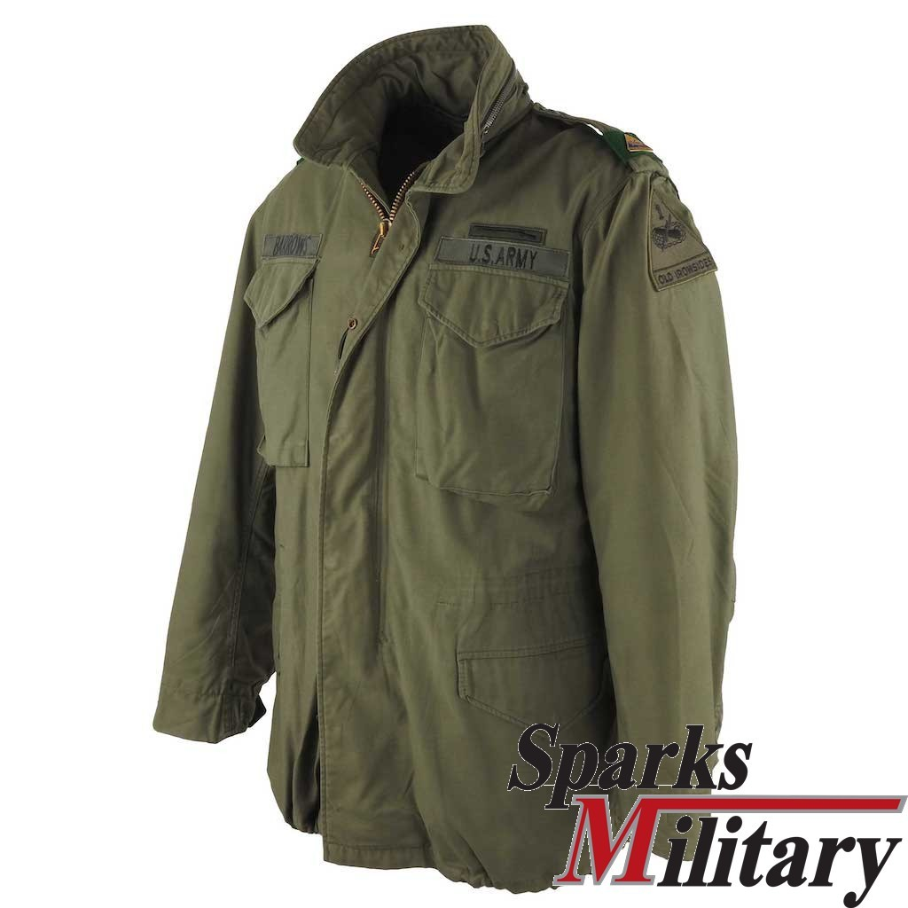 M65 Field Jacket in Medium Long with 1st AD Patch buy online