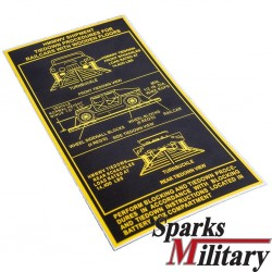 HMMWV Tiedown Procedures sticker