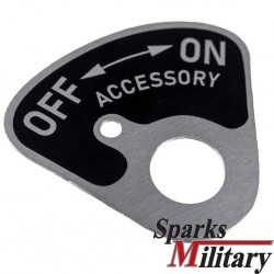 On/OFF Accessory Plate US Military Vehicles