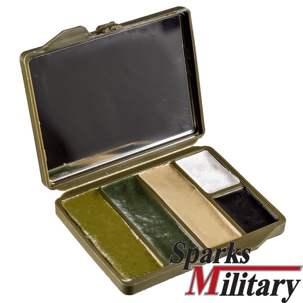 Camo Face Paint 5 color case with mirror