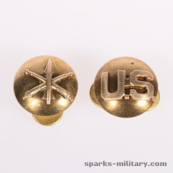 US Army BOS Air Defense Artillery Collar Disc Gold